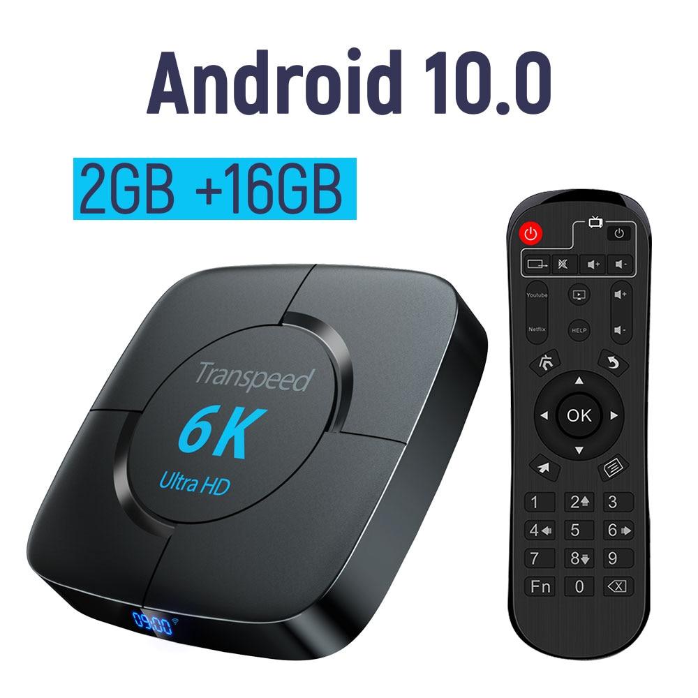 transpeed Android 10.0 Bluetooth TV Box Google Voice ...